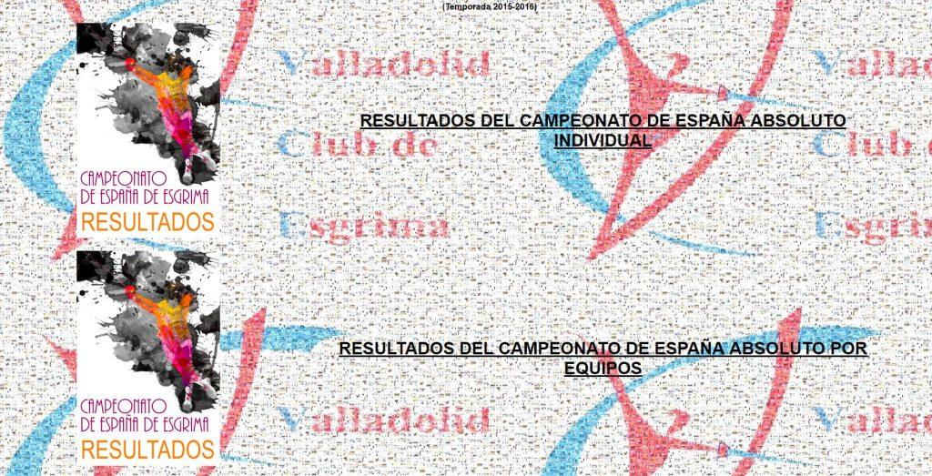 RESULTADOS CTO ESPAÑA 2016 Valladolid