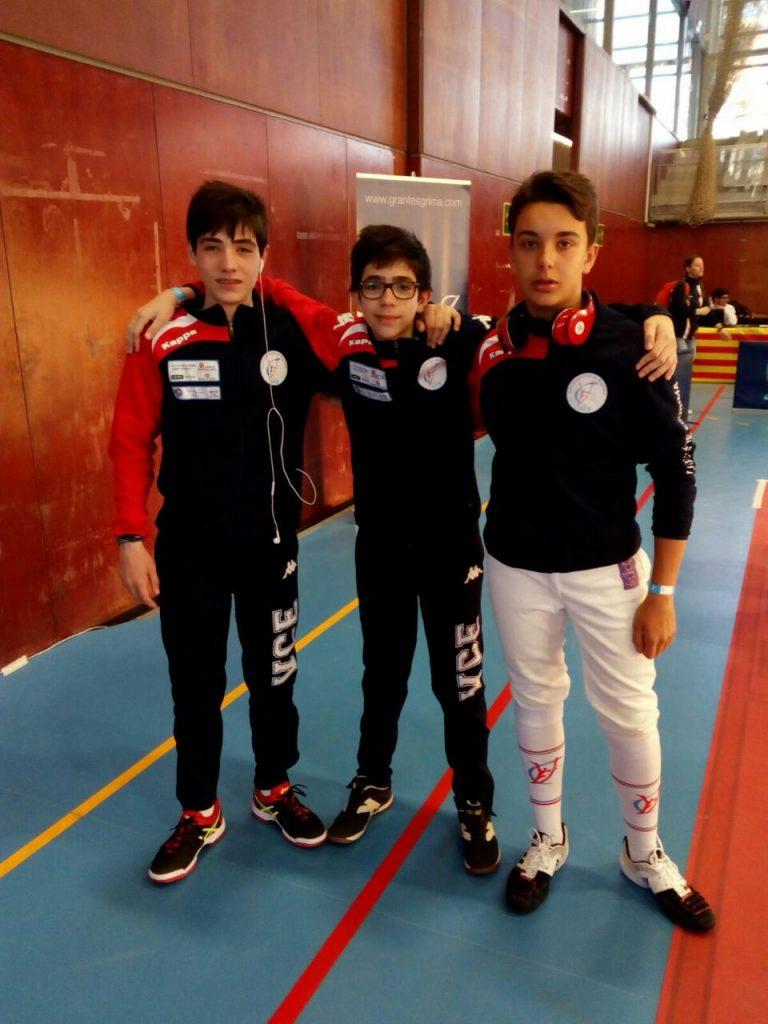 Los tres infantiles en Barcelona