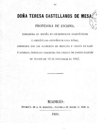 Teresa Castellanos portada